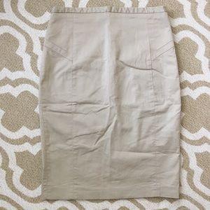 Express khaki colored pencil skirt SZ 6